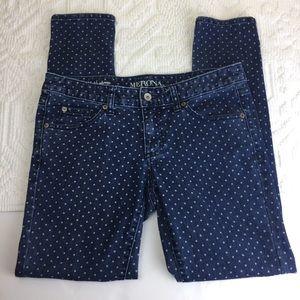 4/$25 Merona Polka Dot Skinny Jeans sz. 4